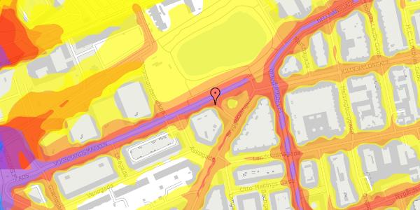 Trafikstøjkort på Vognmandsmarken 78, 3. tv, 2100 København Ø
