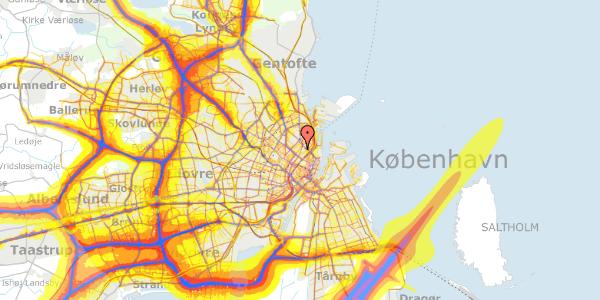Trafikstøjkort på Voldmestergade 33, 2100 København Ø