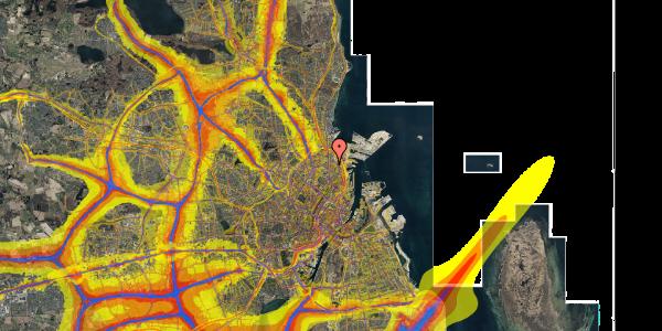 Trafikstøjkort på Vordingborggade 6F, 2. 21, 2100 København Ø