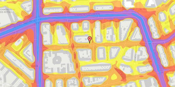 Trafikstøjkort på Vordingborggade 19, 1. th, 2100 København Ø