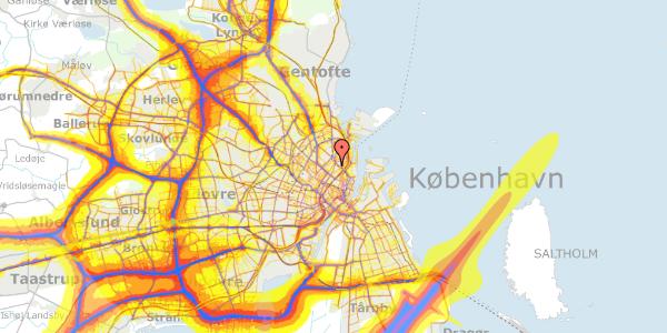 Trafikstøjkort på Zinnsgade 8, 3. tv, 2100 København Ø