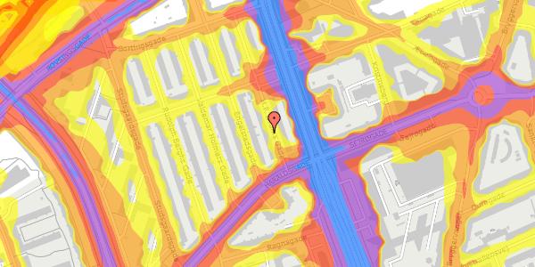 Trafikstøjkort på H.P. Ørums Gade 13, 1. , 2100 København Ø
