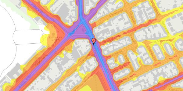 Trafikstøjkort på Østerbrogade 25, st. mf, 2100 København Ø