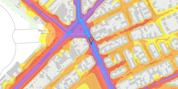 Trafikstøjkort på Østerbrogade 25, 2. , 2100 København Ø