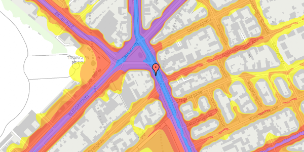 Trafikstøjkort på Østerbrogade 27, 3. , 2100 København Ø