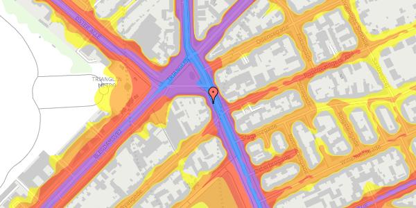 Trafikstøjkort på Østerbrogade 27, 5. , 2100 København Ø