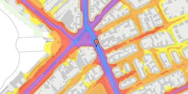 Trafikstøjkort på Østerbrogade 29, 5. th, 2100 København Ø