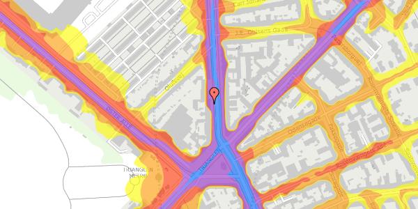 Trafikstøjkort på Østerbrogade 41, 3. tv, 2100 København Ø