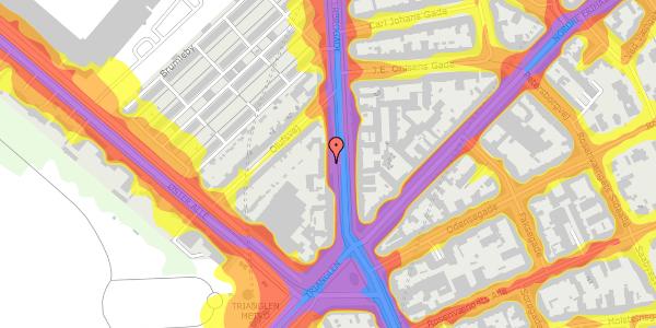 Trafikstøjkort på Østerbrogade 43, 2. mf, 2100 København Ø