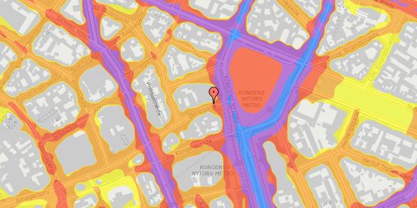 Trafikstøjkort på Østergade 6, 4. , 1100 København K