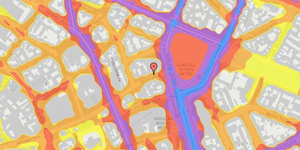 Trafikstøjkort på Østergade 10, 4. , 1100 København K