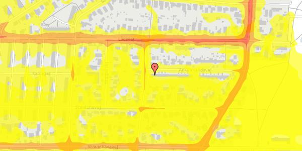 Trafikstøjkort på Ankermandsvej 2, 2650 Hvidovre