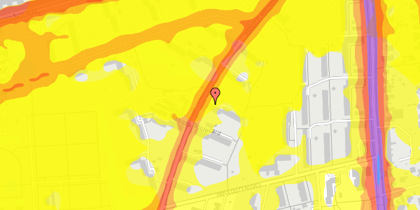 Trafikstøjkort på Arnold Nielsens Boulevard 13, 2. th, 2650 Hvidovre