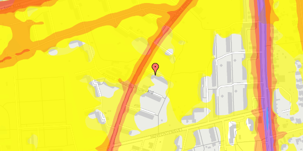 Trafikstøjkort på Arnold Nielsens Boulevard 15, st. th, 2650 Hvidovre