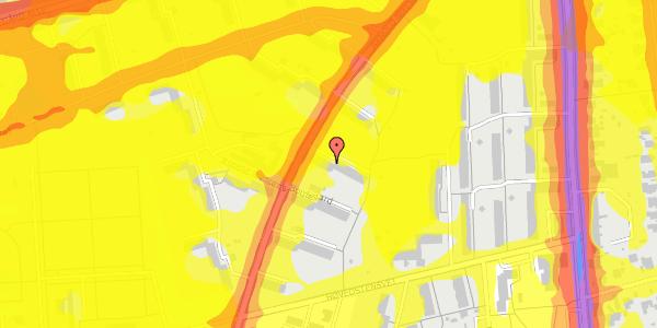 Trafikstøjkort på Arnold Nielsens Boulevard 15, 2. th, 2650 Hvidovre