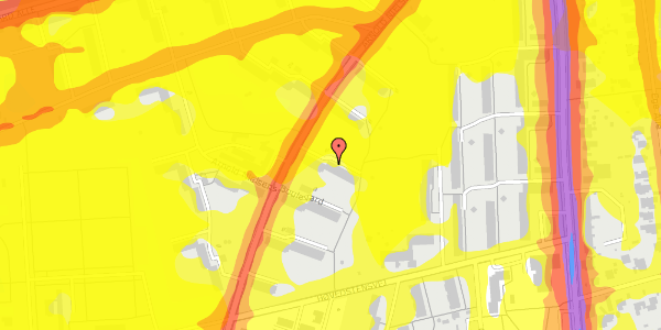 Trafikstøjkort på Arnold Nielsens Boulevard 17, st. th, 2650 Hvidovre