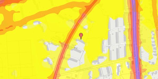 Trafikstøjkort på Arnold Nielsens Boulevard 17, 2. th, 2650 Hvidovre