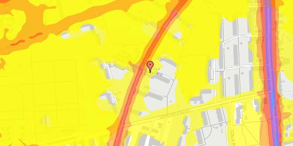 Trafikstøjkort på Arnold Nielsens Boulevard 23, 3. th, 2650 Hvidovre