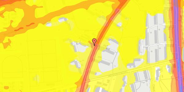 Trafikstøjkort på Arnold Nielsens Boulevard 28, 3. th, 2650 Hvidovre