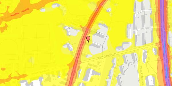 Trafikstøjkort på Arnold Nielsens Boulevard 33, 1. th, 2650 Hvidovre