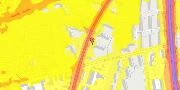 Trafikstøjkort på Arnold Nielsens Boulevard 33, 3. tv, 2650 Hvidovre