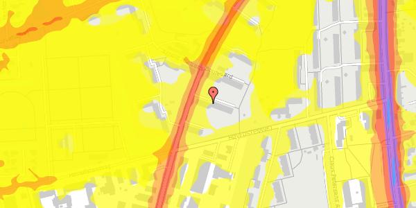Trafikstøjkort på Arnold Nielsens Boulevard 35, 1. th, 2650 Hvidovre