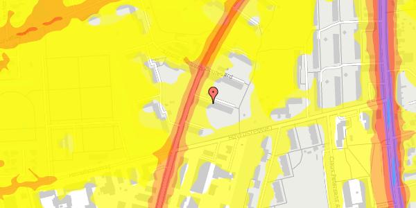 Trafikstøjkort på Arnold Nielsens Boulevard 35, 3. tv, 2650 Hvidovre