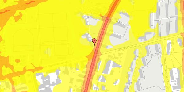 Trafikstøjkort på Arnold Nielsens Boulevard 36, 3. th, 2650 Hvidovre