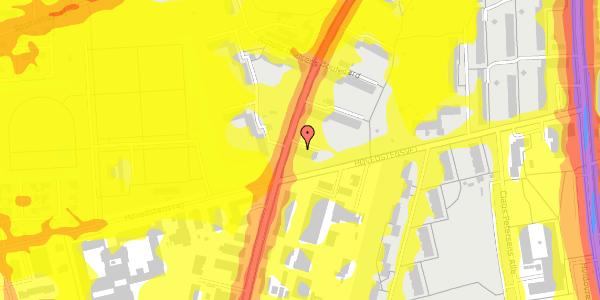 Trafikstøjkort på Arnold Nielsens Boulevard 43, 2. th, 2650 Hvidovre