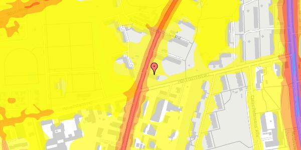 Trafikstøjkort på Arnold Nielsens Boulevard 43, 2. tv, 2650 Hvidovre
