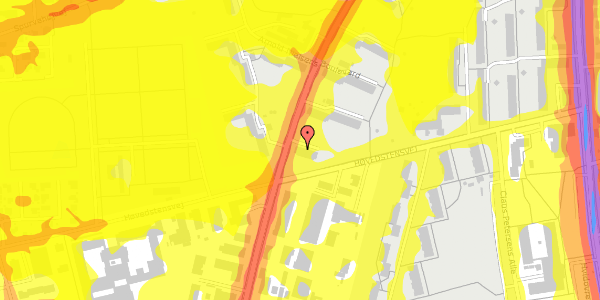 Trafikstøjkort på Arnold Nielsens Boulevard 43, 3. th, 2650 Hvidovre