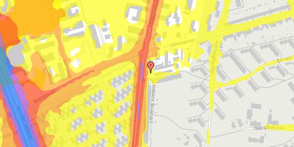 Trafikstøjkort på Arnold Nielsens Boulevard 57, 2650 Hvidovre
