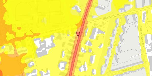 Trafikstøjkort på Arnold Nielsens Boulevard 62A, 2650 Hvidovre