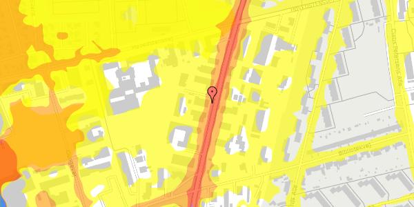 Trafikstøjkort på Arnold Nielsens Boulevard 66A, 2650 Hvidovre