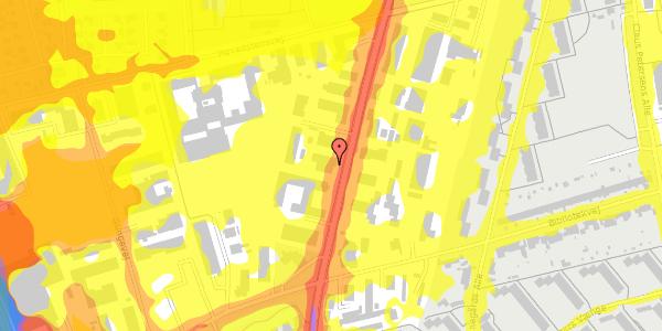Trafikstøjkort på Arnold Nielsens Boulevard 66B, 2650 Hvidovre