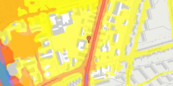 Trafikstøjkort på Arnold Nielsens Boulevard 68A, 1. 2, 2650 Hvidovre