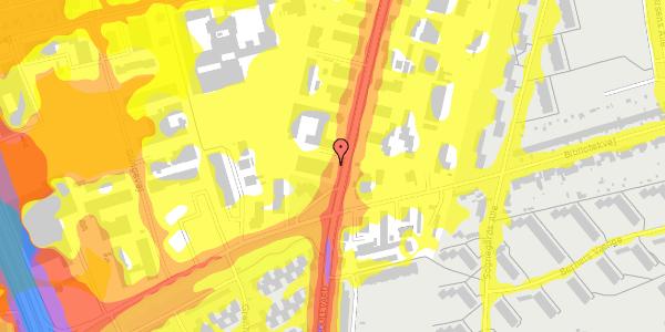 Trafikstøjkort på Arnold Nielsens Boulevard 72, 2650 Hvidovre