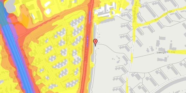 Trafikstøjkort på Arnold Nielsens Boulevard 119, 1. tv, 2650 Hvidovre