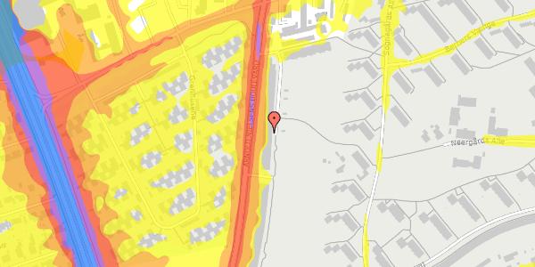 Trafikstøjkort på Arnold Nielsens Boulevard 121, 2. tv, 2650 Hvidovre