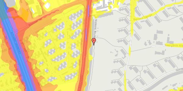 Trafikstøjkort på Arnold Nielsens Boulevard 123, 2. tv, 2650 Hvidovre