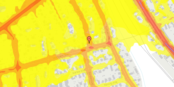 Trafikstøjkort på Birke Alle 24, 2650 Hvidovre