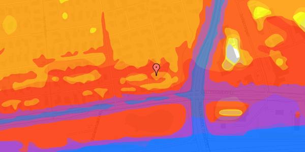 Trafikstøjkort på Syvhøjvænge 16, 2625 Vallensbæk