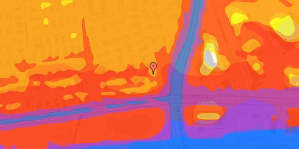 Trafikstøjkort på Syvhøjvænge 24, 2625 Vallensbæk