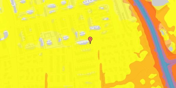 Trafikstøjkort på Syvhøjvænge 237, 2625 Vallensbæk