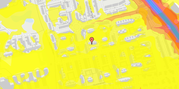 Trafikstøjkort på Valmuebakken 30, 2625 Vallensbæk