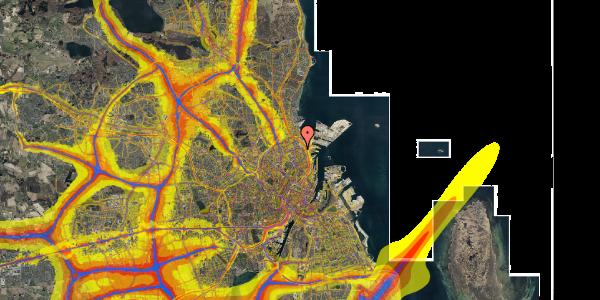 Trafikstøjkort på Svendborggade 1, 5. 503, 2100 København Ø