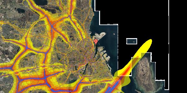 Trafikstøjkort på Amerika Plads 6A, st. , 2100 København Ø