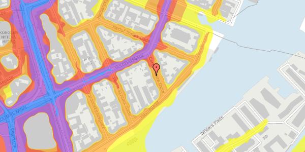 Trafikstøjkort på Cort Adelers Gade 8, 2. 214a, 1053 København K