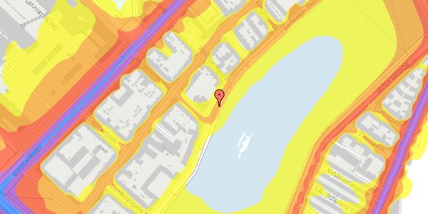 Trafikstøjkort på Helgesensgade 2A, 2100 København Ø