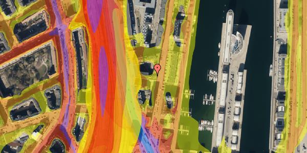 Trafikstøjkort på Amerika Plads 3D, kl. 54, 2100 København Ø